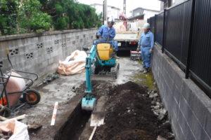 電線管路埋設工事